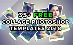001 Beautiful Free Photo Collage Template Psd Sample  Heart Shaped Download
