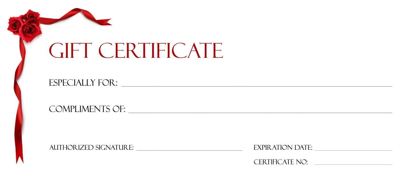 001 Beautiful Free Printable Template For Gift Certificate Sample  Voucher1400