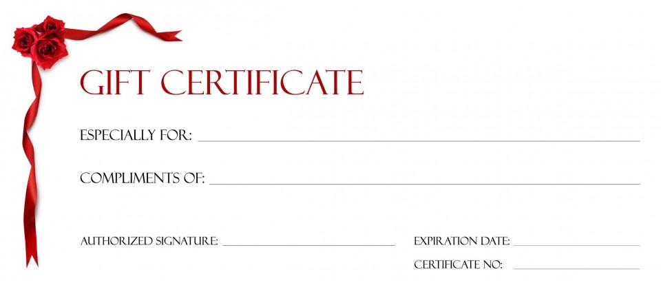 001 Beautiful Free Printable Template For Gift Certificate Sample  Voucher960