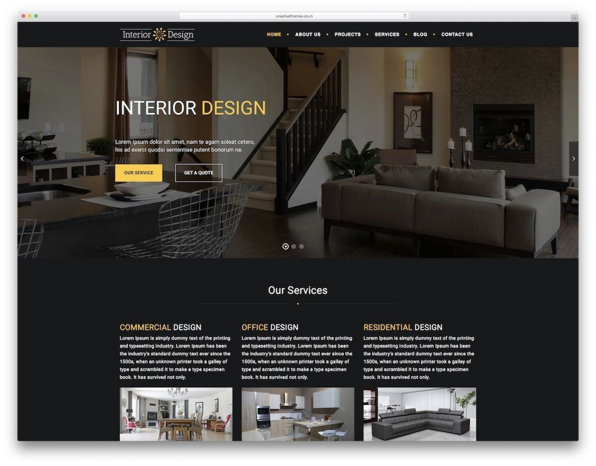 Interior Designing Website Templates Addictionary