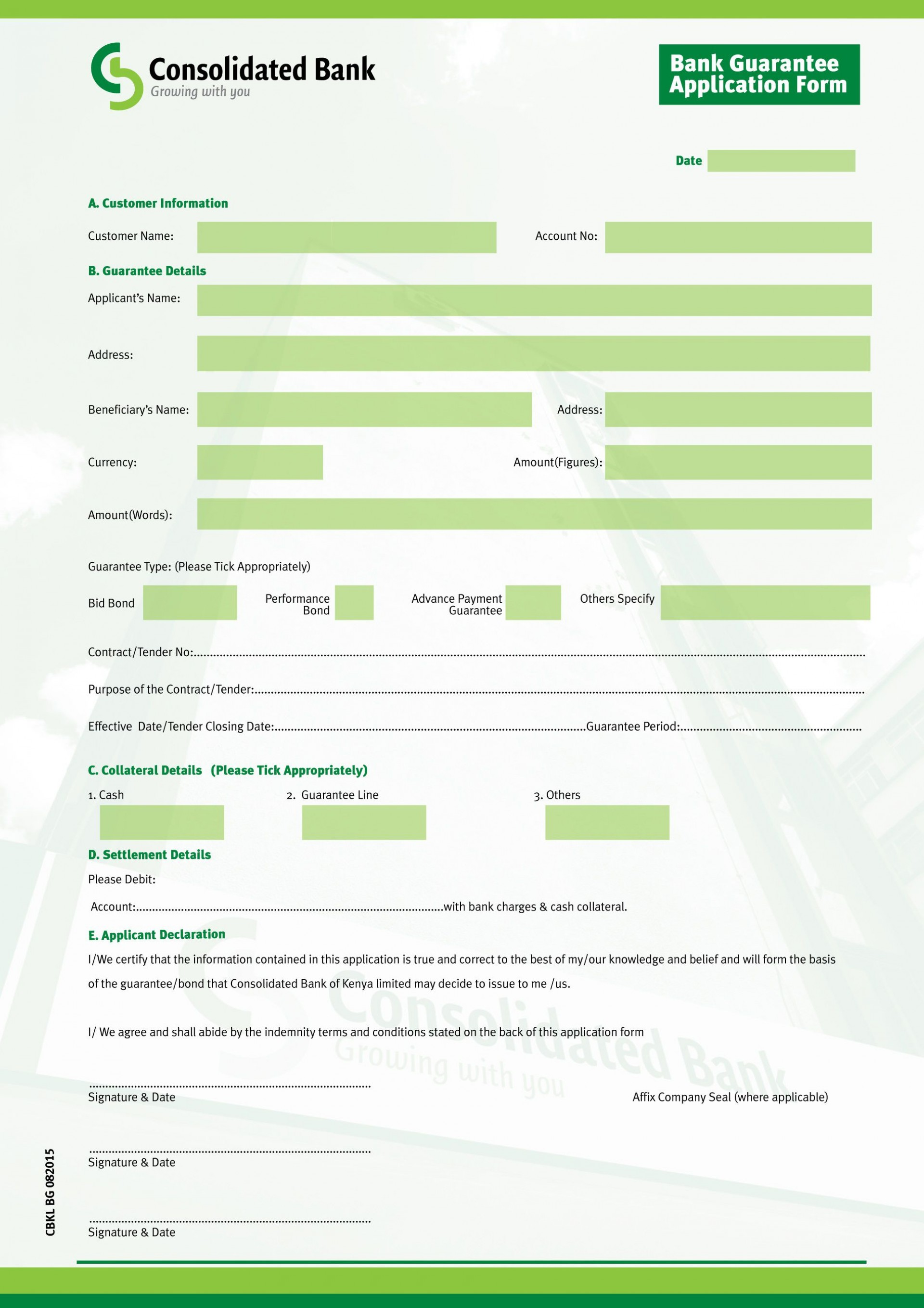 New Account Application Form Template Addictionary