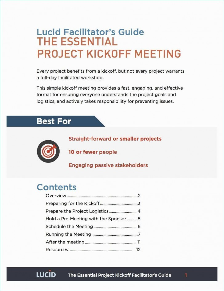 001 Beautiful Project Kickoff Meeting Template Excel High Def 728