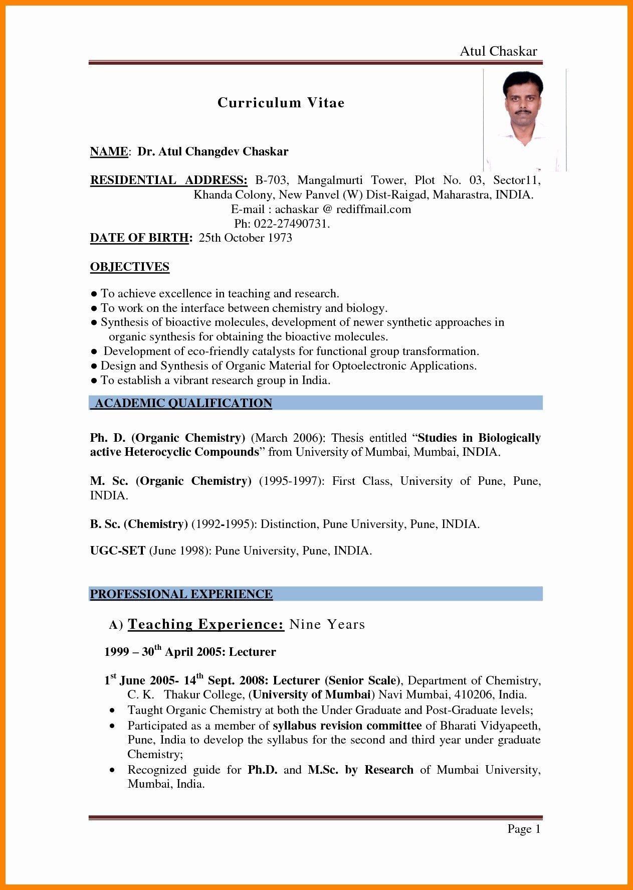001 Beautiful Resume Sample For Teaching Job In India Image  School Principal PositionFull