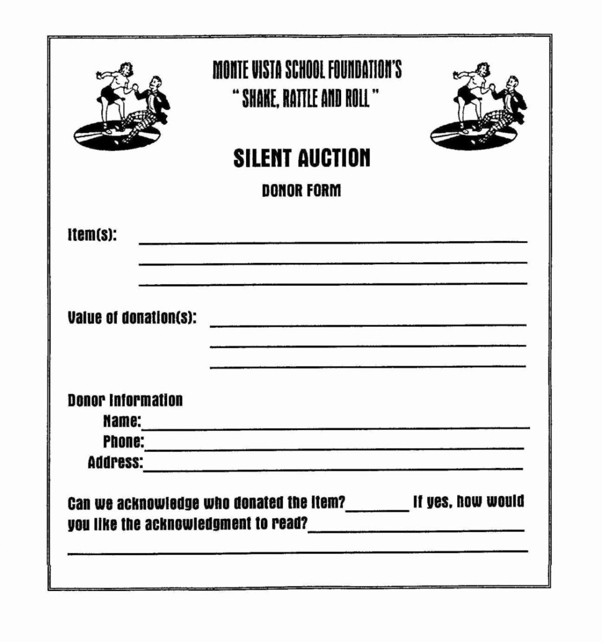 001 Beautiful Silent Auction Donation Certificate Template High Resolution 1920