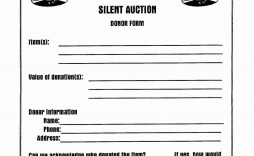 001 Beautiful Silent Auction Donation Certificate Template High Resolution