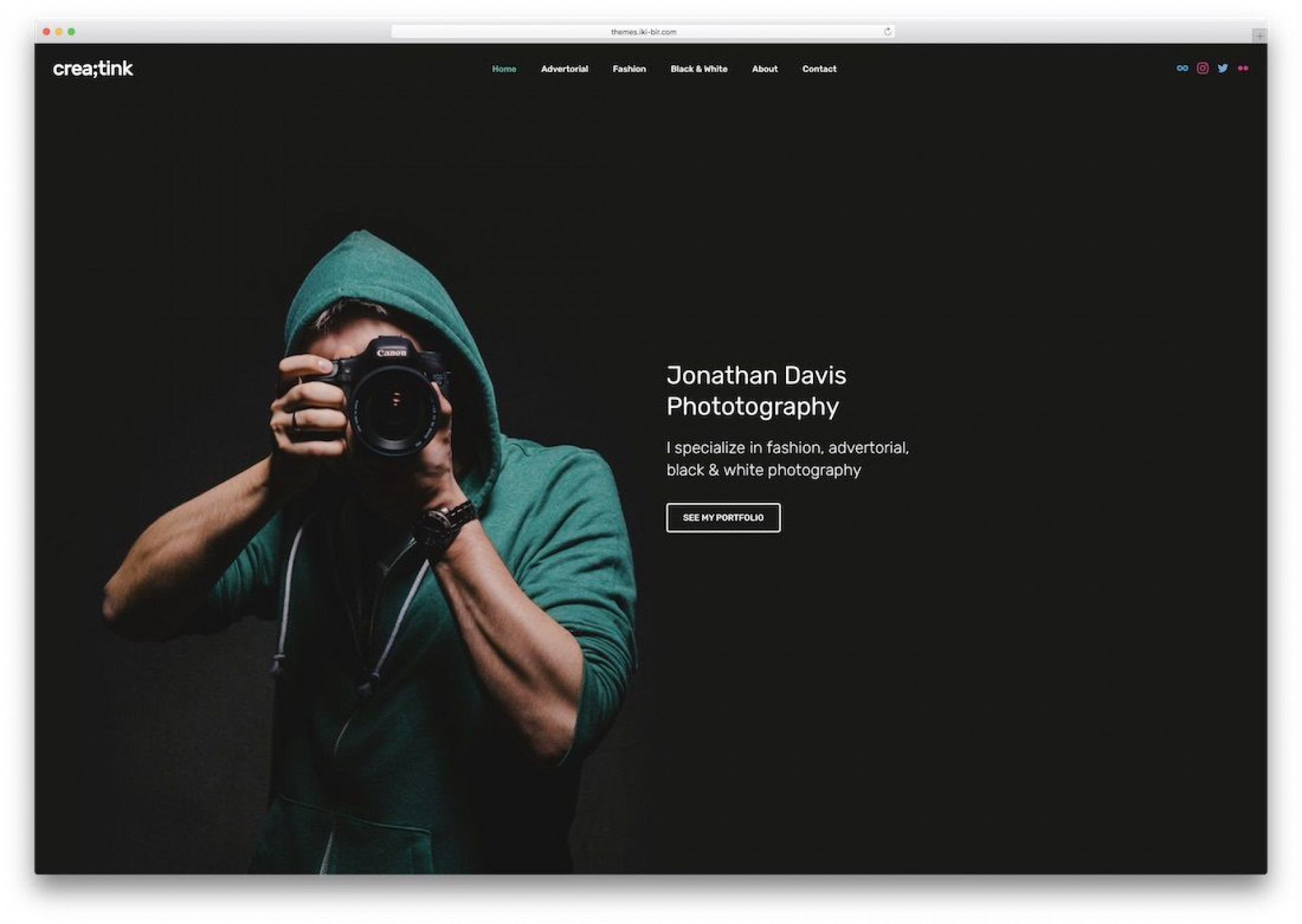001 Beautiful Web Template For Photographer High Definition  Photography1920