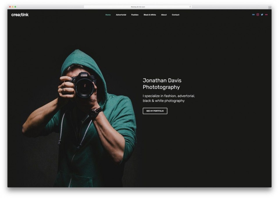 001 Beautiful Web Template For Photographer High Definition  Photography960