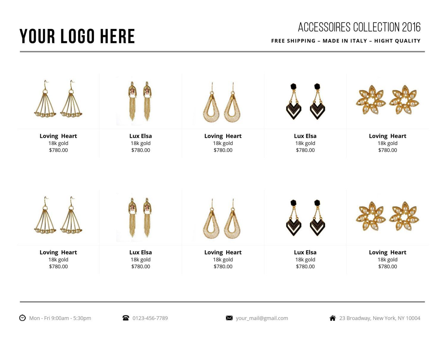 001 Beautiful Wholesale Line Sheet Template Image  Fashion Free ExcelFull