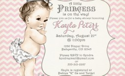 001 Best Baby Shower Invitation Girl Princes Picture  Princess Theme