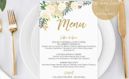 001 Best Baby Shower Menu Template Photo  Templates Lunch Printable Downloadable