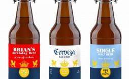 001 Best Beer Bottle Label Template Word Image  Free