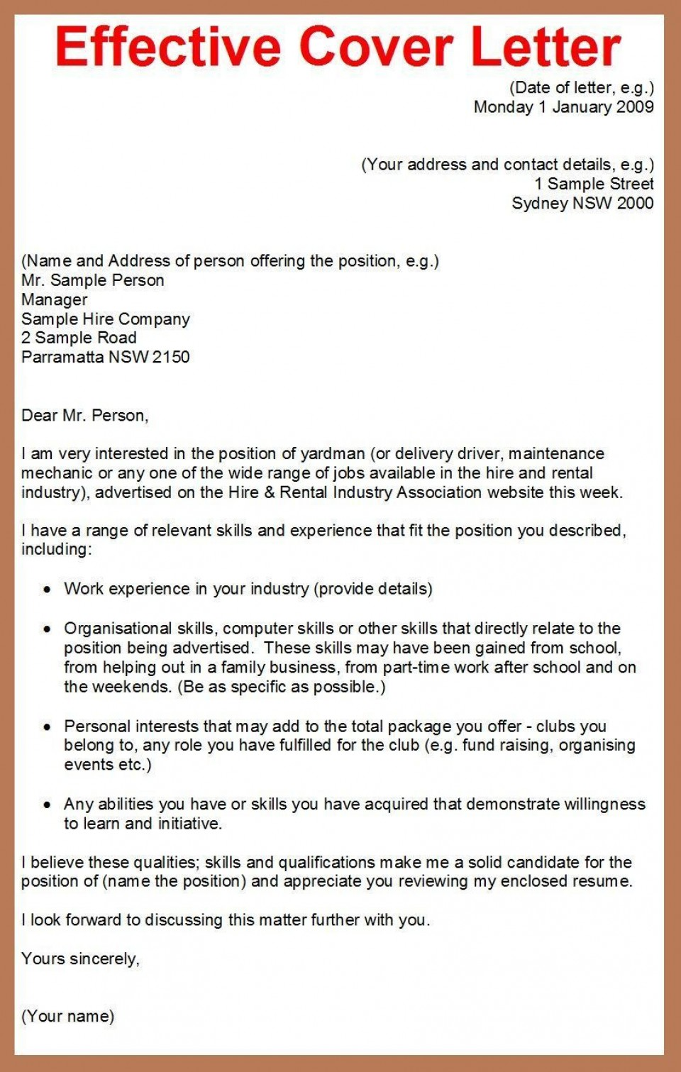 001 Best Cover Letter Writing Sample Highest Clarity  Example For Content Job Resume960