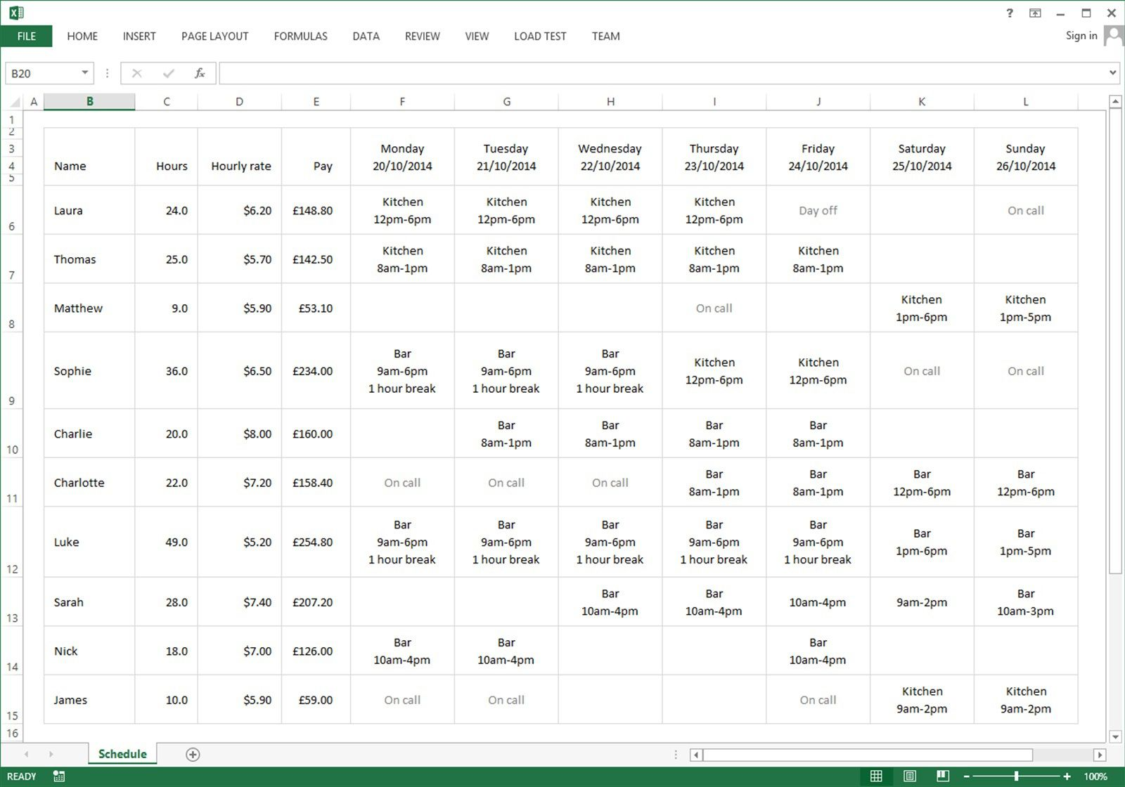 001 Best Employee Schedule Template Free Highest Clarity  Downloadable Weekly Work Training Excel ShiftFull
