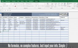 001 Best Excel Phone List Template Software Download Image