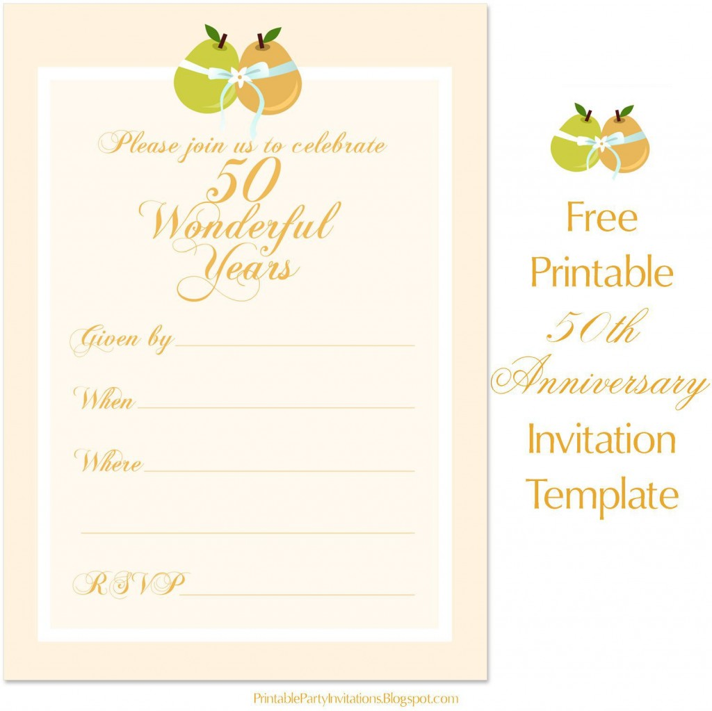 001 Best Free 50th Anniversary Invitation Template For Word Highest Clarity Large