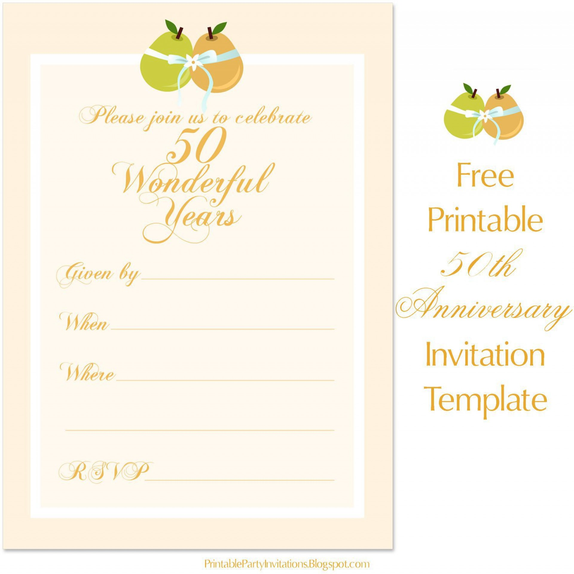 001 Best Free 50th Anniversary Invitation Template For Word Highest Clarity 1920