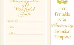 001 Best Free 50th Anniversary Invitation Template For Word Highest Clarity