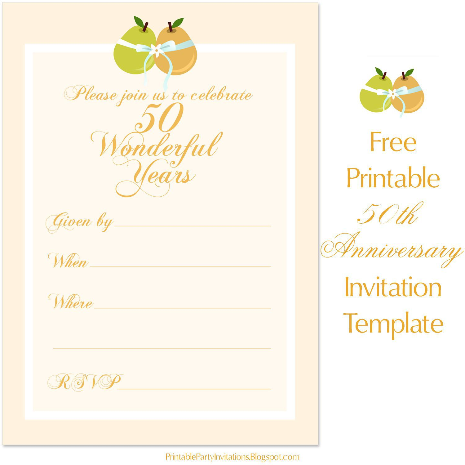 001 Best Free 50th Anniversary Invitation Template For Word Highest Clarity Full