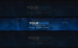001 Best Free Channel Art Template Picture