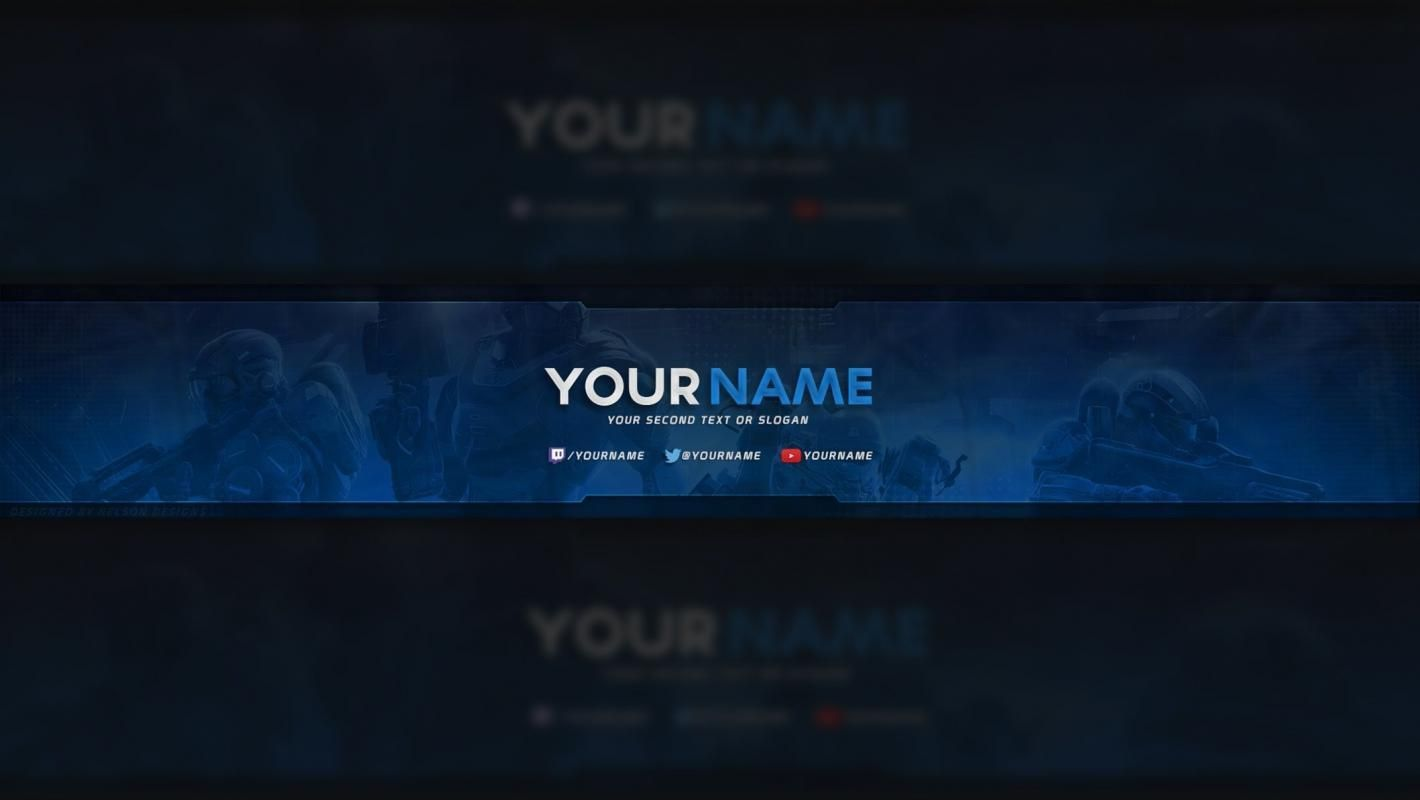 001 Best Free Channel Art Template Picture Full