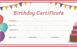 001 Best Free Printable Birthday Gift Voucher Template Highest Quality