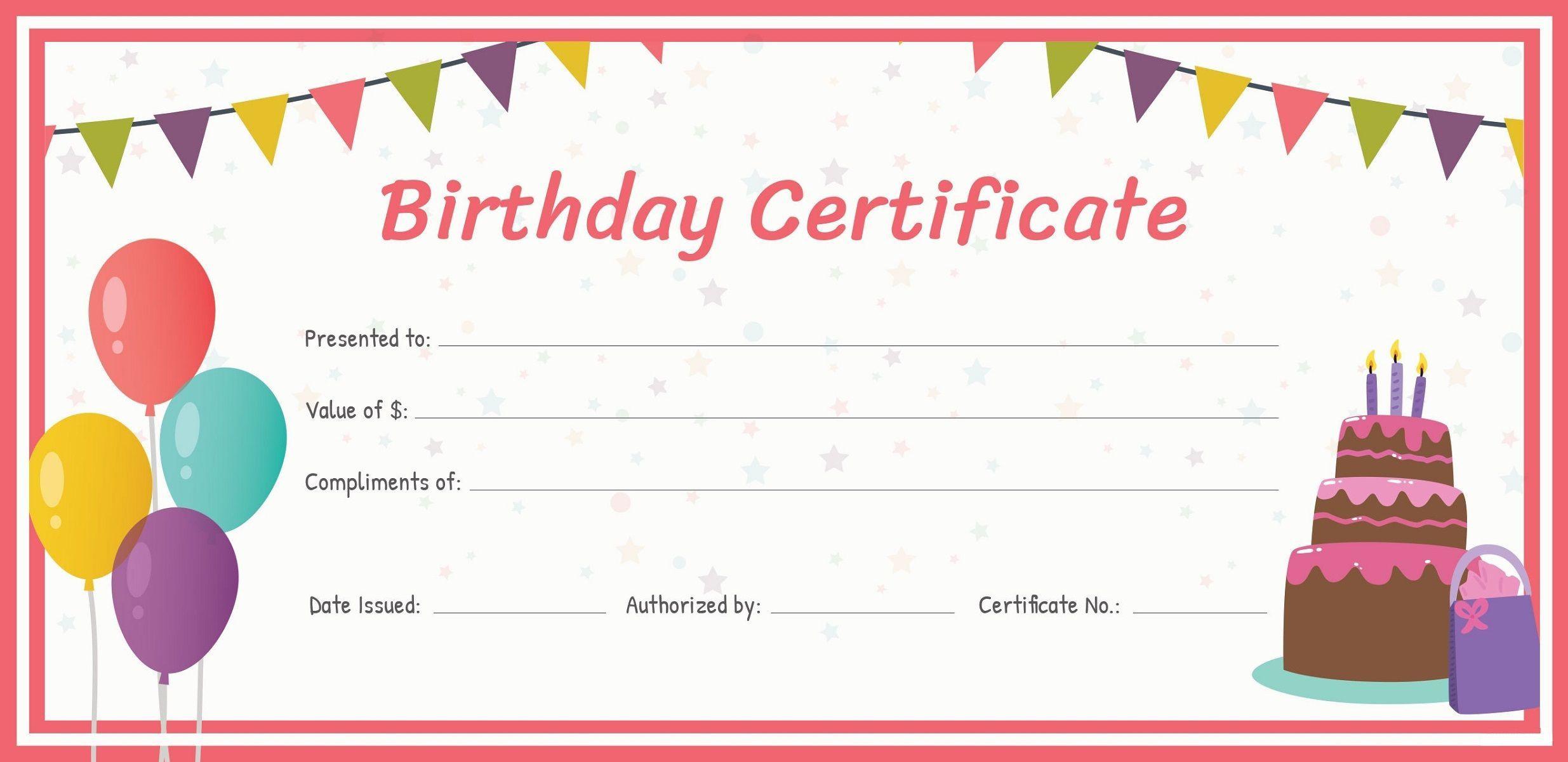 001 Best Free Printable Birthday Gift Voucher Template Highest Quality Full
