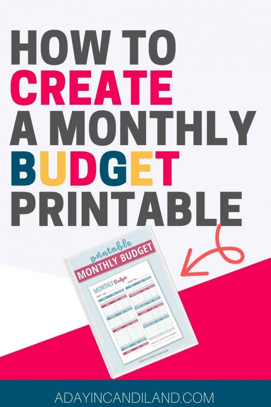 001 Best Free Printable Monthly Budget Form Concept  Blank Sheet Household Template Downloadable Worksheet
