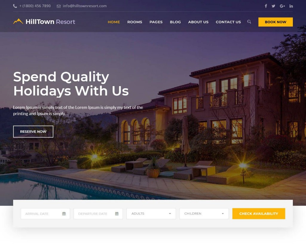 001 Best Hotel Website Template Html Free Download Idea  With Cs Responsive Jquery And RestaurantLarge