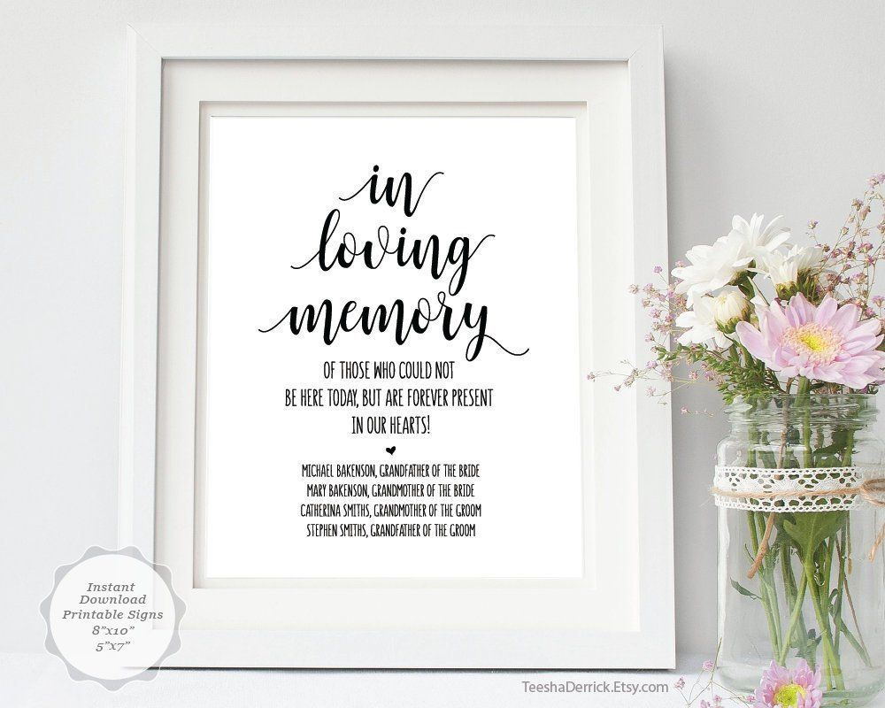 001 Best In Loving Memory Template Picture  Free Download Card BookmarkFull
