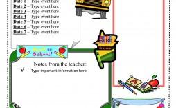 001 Best Newsletter Template For Teacher Sample  Teachers To Parent Printable Free School