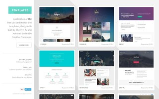 001 Best One Page Website Template Html5 Free Download Photo  Parallax320