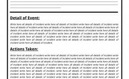 001 Best Police Report Template Microsoft Word Idea