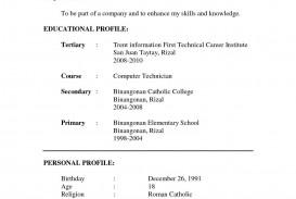 001 Best Resume Sample Free Download Doc Example  Resume.doc For Fresher