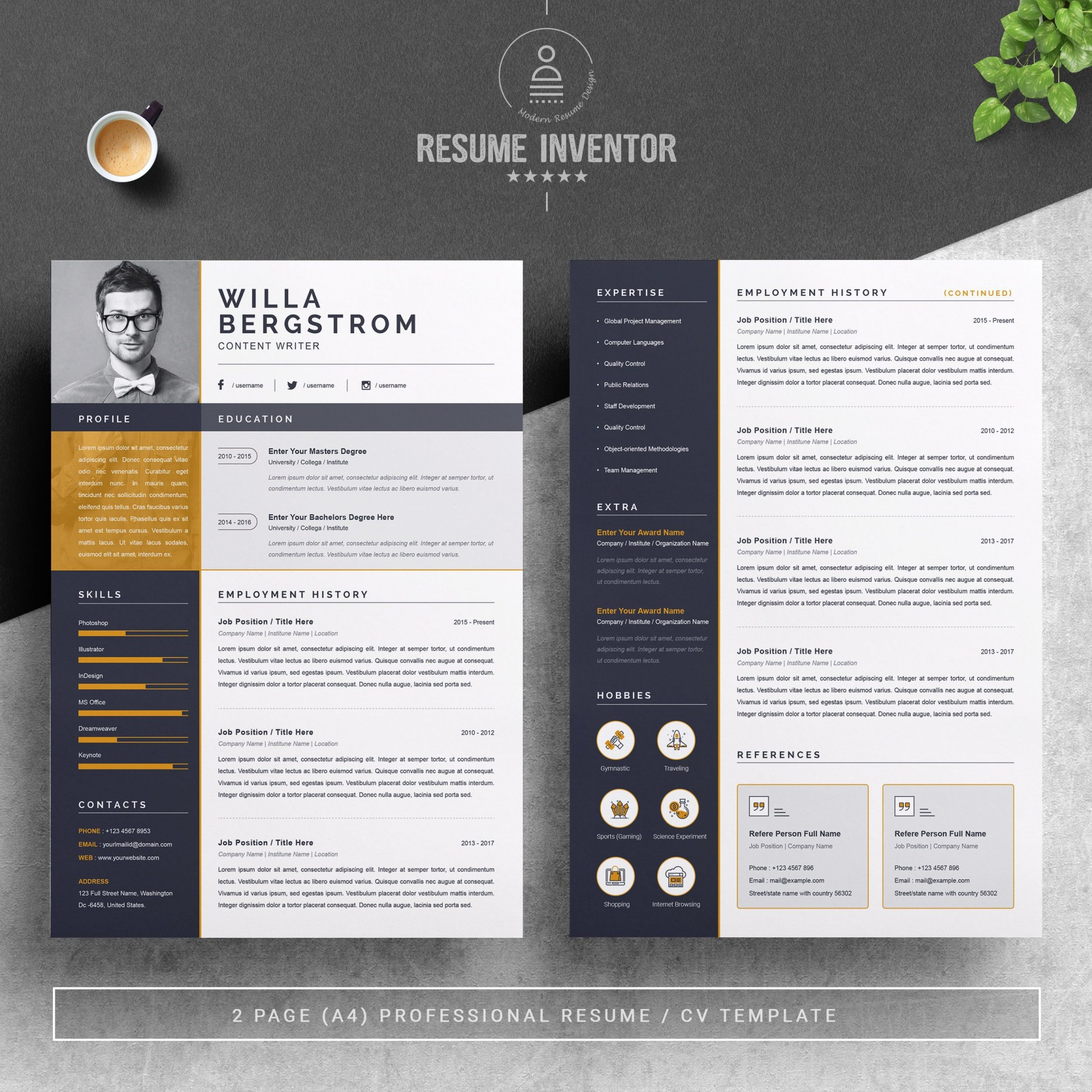 001 Best Resume Template Word 2016 Highest Clarity  Cv Professional1920