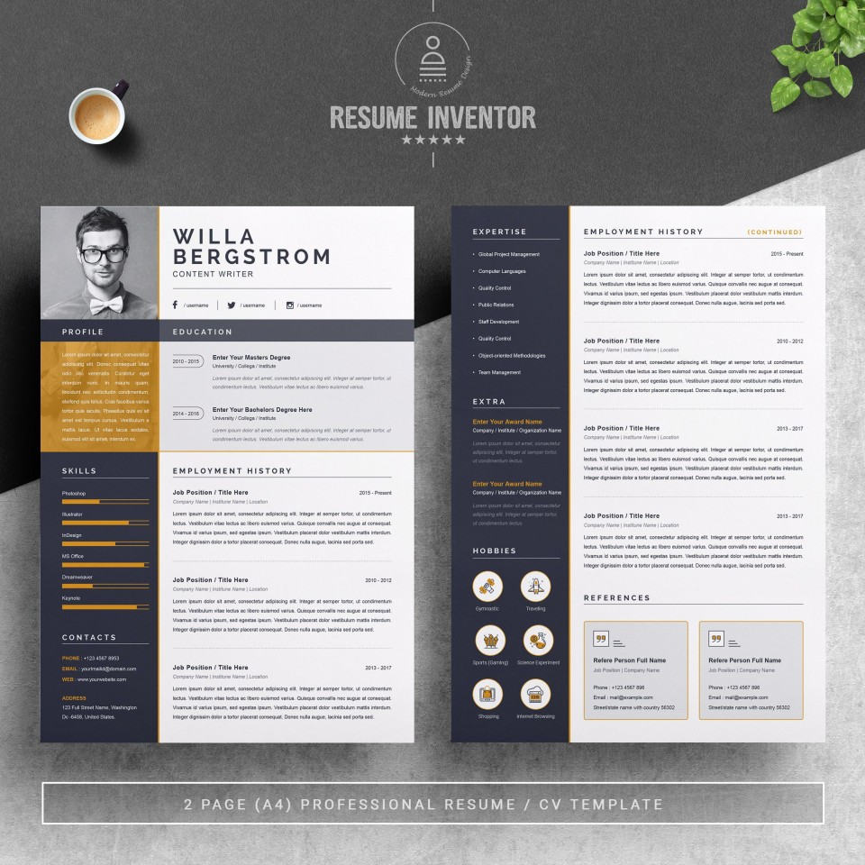 001 Best Resume Template Word 2016 Highest Clarity  Cv Microsoft Download Free960