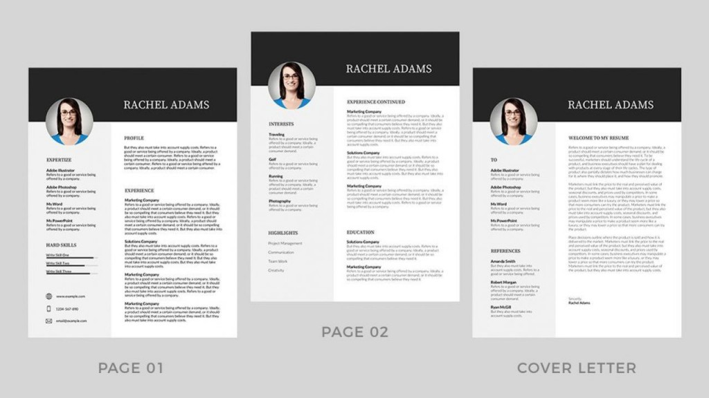 001 Best Resume Template Word Free Image  Download India 2020Large