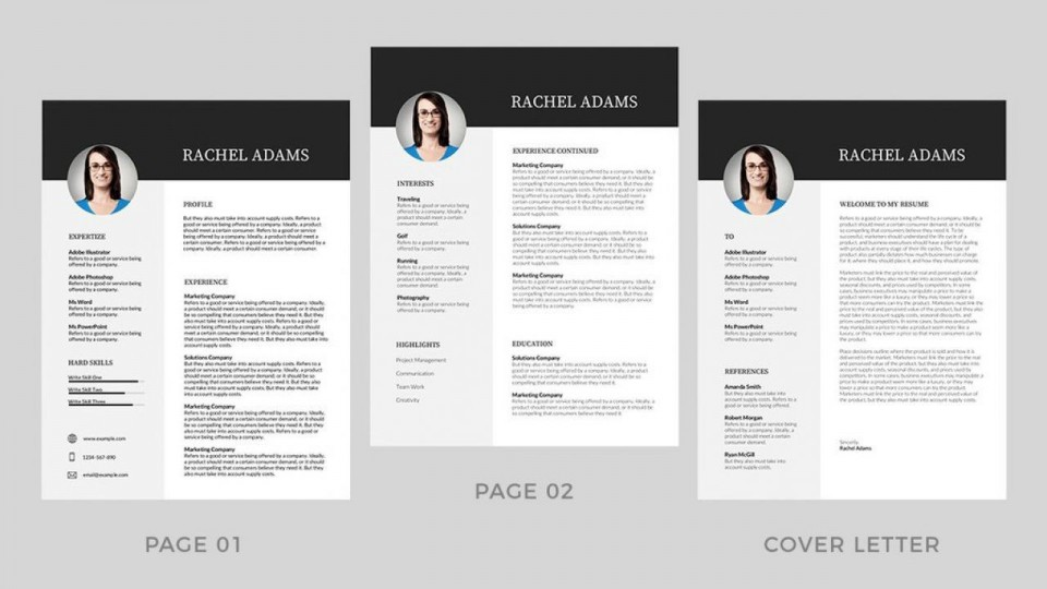 001 Best Resume Template Word Free Image  Download 2020 Doc960
