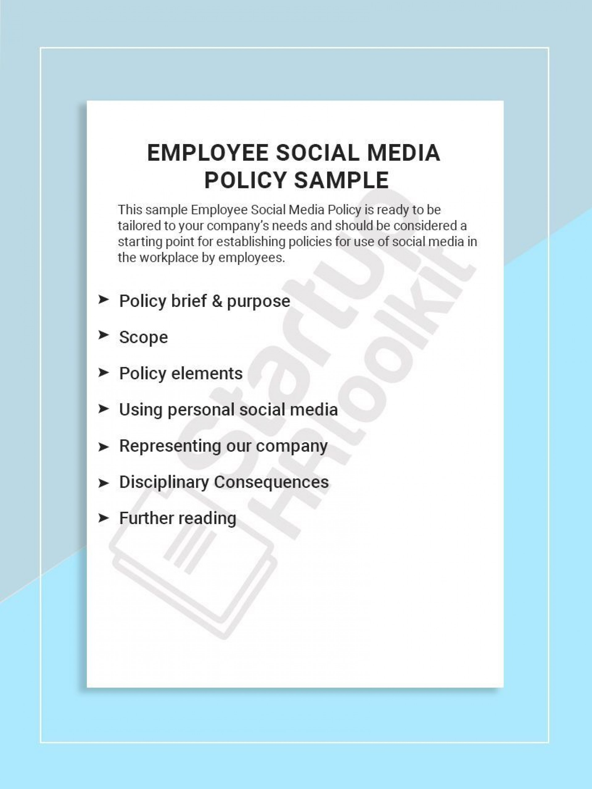 001 Best Social Media Policie Template High Def  Policy For Busines Example Nonprofit Australia Small1920
