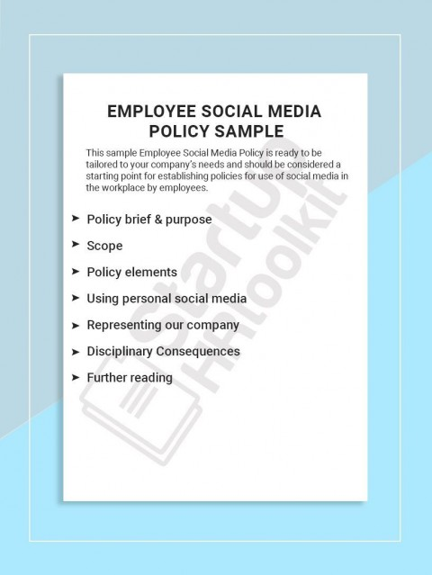 001 Best Social Media Policie Template High Def  Simple Policy Australia Example For Small Busines480