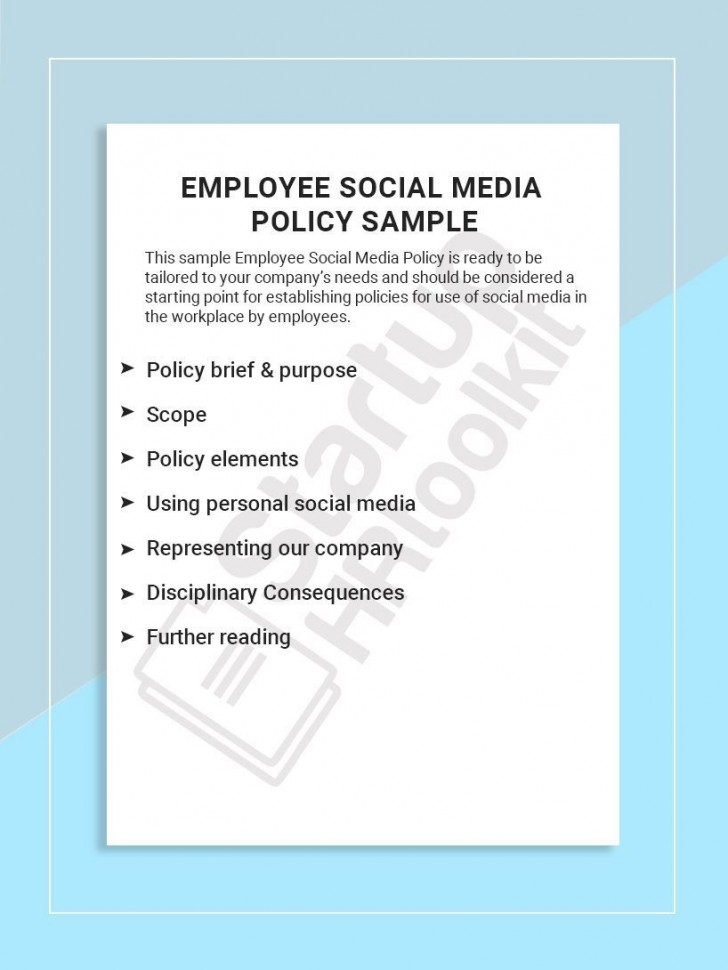 001 Best Social Media Policie Template High Def  Simple Policy Australia Example For Small Busines728