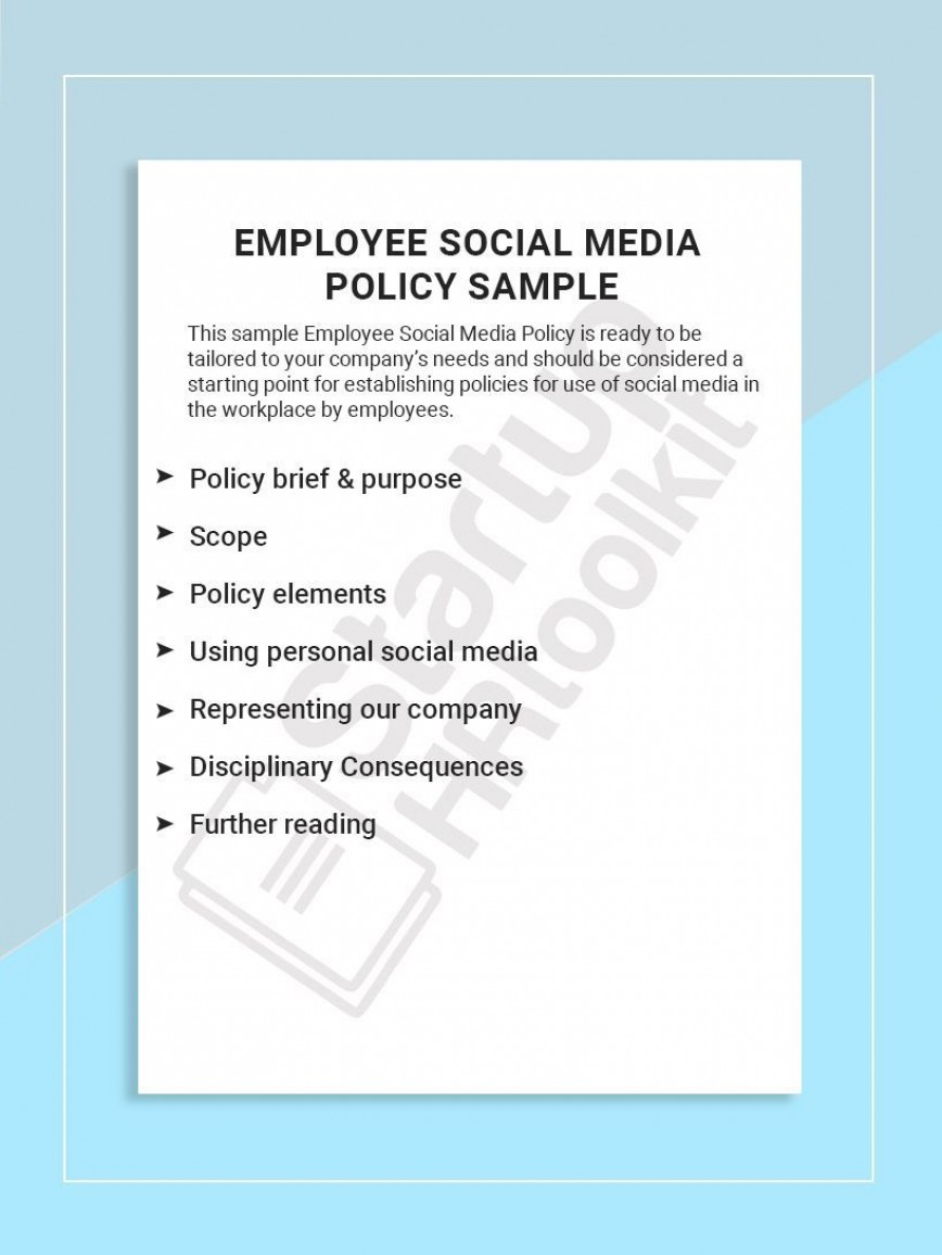 001 Best Social Media Policie Template High Def  Simple Policy Australia Example For Small Busines868