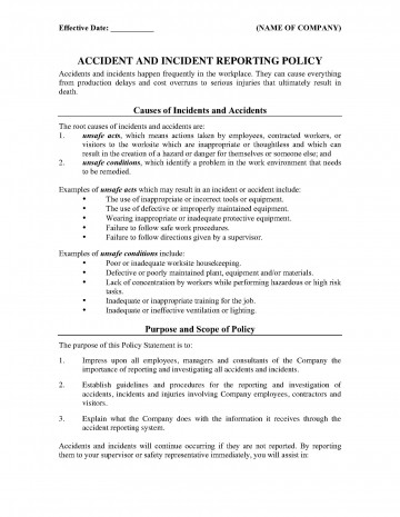 001 Best Workplace Incident Report Form Western Australia Image 360
