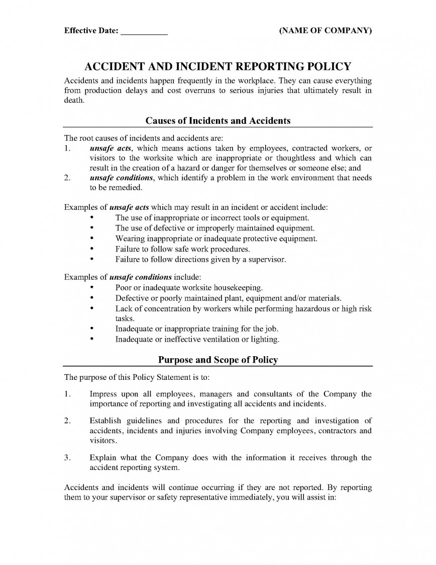 001 Best Workplace Incident Report Form Western Australia Image 868