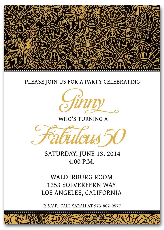001 Breathtaking 50th Anniversary Invitation Template Free Download Highest Quality  Golden WeddingFull