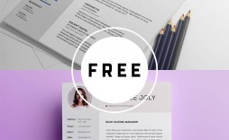 001 Breathtaking Adobe Photoshop Resume Template Free Picture  Download