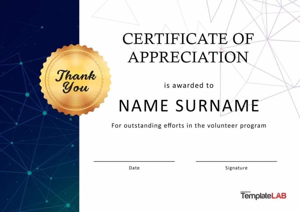 001 Breathtaking Certificate Of Appreciation Template Free Design  Microsoft Word Download Publisher EditableLarge