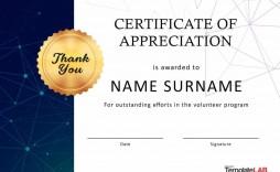 001 Breathtaking Certificate Of Appreciation Template Free Design  Microsoft Word Download Publisher Editable