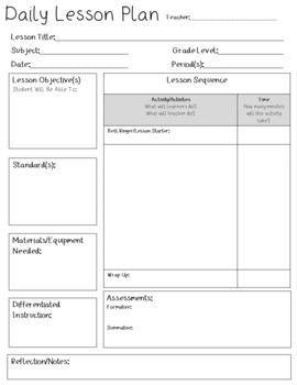 001 Breathtaking Editable Lesson Plan Template Kindergarten Concept  FreeFull