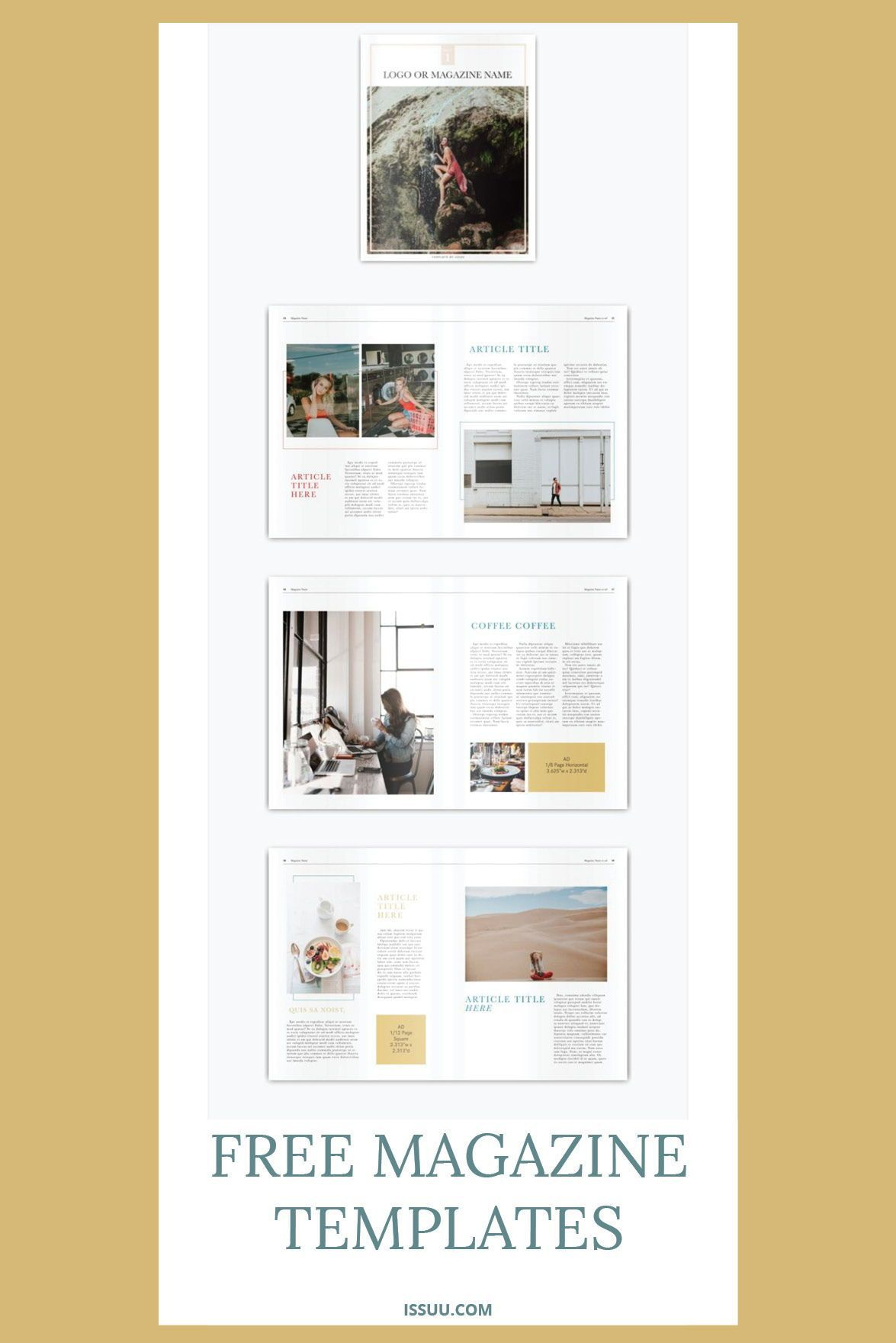 001 Breathtaking Free Magazine Layout Template Design  Templates For Word Microsoft PowerpointFull