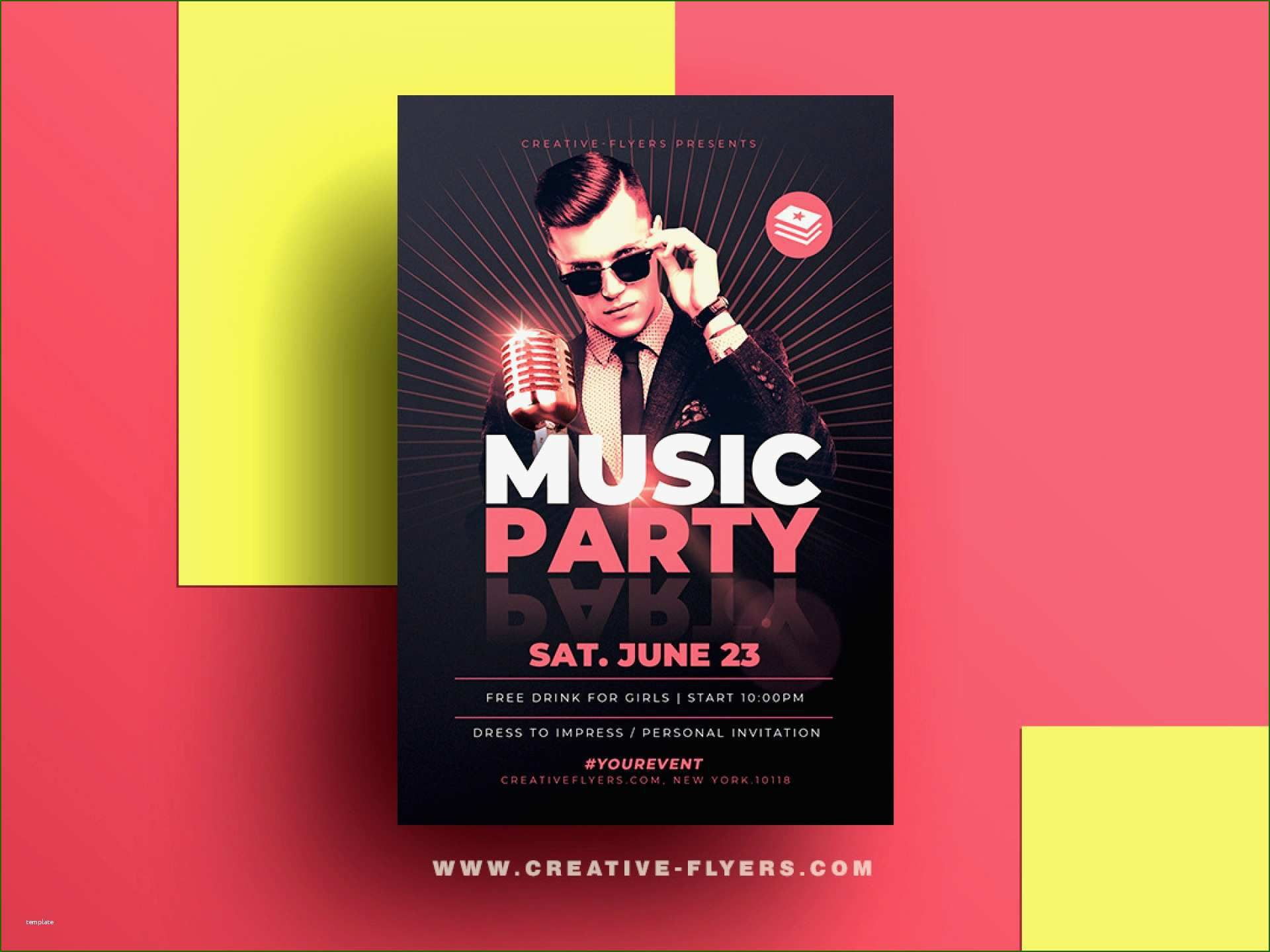 001 Breathtaking Free Photoshop Concert Poster Template Photo  TemplatesFull